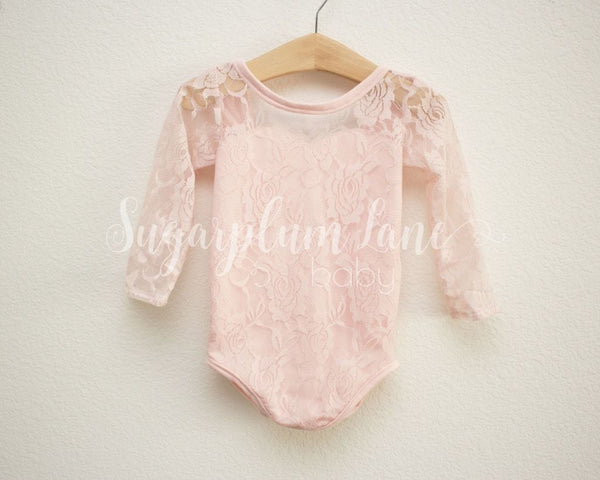 Pink Lace Sweetheart Leotard Leotards