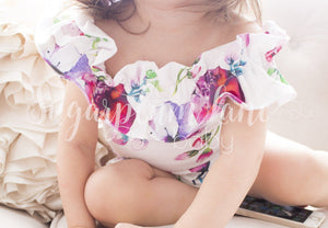 Blush Ruffled Off the Shoulder Leotard