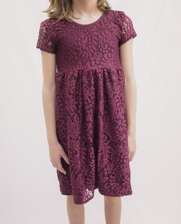Ruby Lace Twirl Dress
