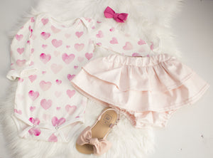 Pink Dot Ruffled Skirt Bloomers