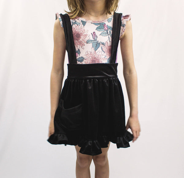 Black Velvet Pinafore