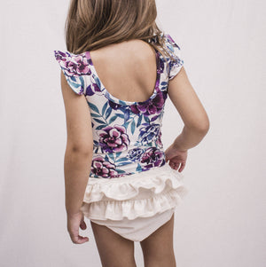 Blue and Purple Flower Leotard ©