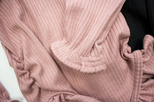 Ribbed Knit Leotard-Blush ©