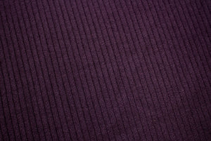 Ribbed Knit Leotard-Eggplant Burgundy ©
