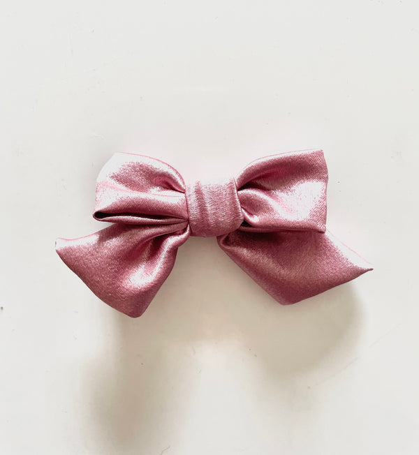 Dusty Pink Satin Bow