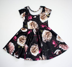 Esme Dark Floral Skater Dress ©