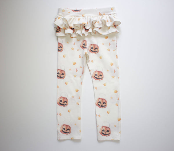 Candy Corn Ruffle Leggings