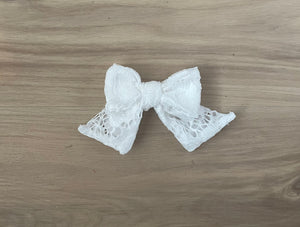 Ivory Lace Bow