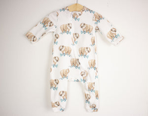 Sloth Zipper Romper