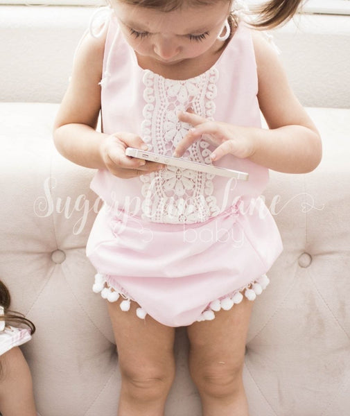 Sweet Pink Lace Romper Rompers And Leotards