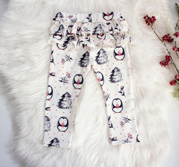 Penguin Ruffle Leggings