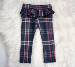 Plaid Ruffle Leggings