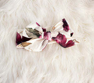 Holiday Flower Bow Headband