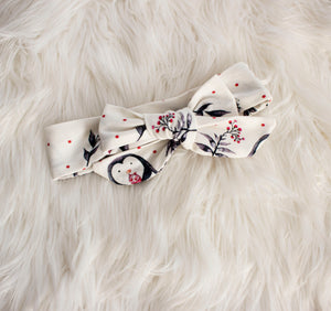 Penguin Bow Headband