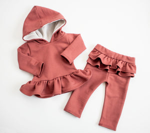 Cozy Brick Hooded Snuggle Set