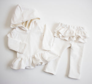Cozy White Hooded Snuggle Set