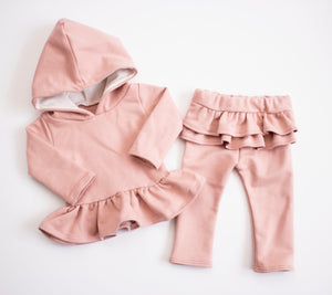 Cozy Blush Hooded Snuggle Set