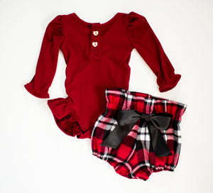 Red and Black Flannel Plaid Bloomers