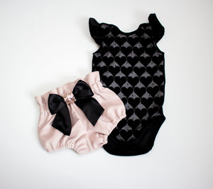 Black Velvet Heart Sparkle Leotard ©