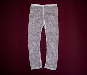 "White Sparkle ""Tight"" Leggings for Babies and Toddlers"