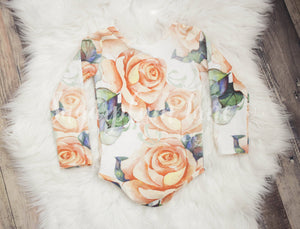 Pumpkin Rose Leotard/Peplum/or Dress