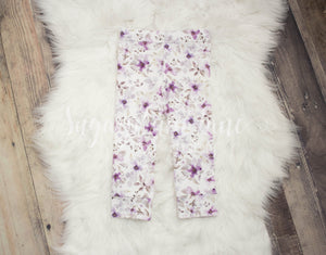 Purple Flower Leggings for Babies and Toddlers