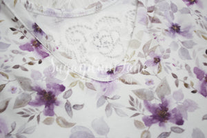 Violet Flower Leotard/Peplum/or Dress