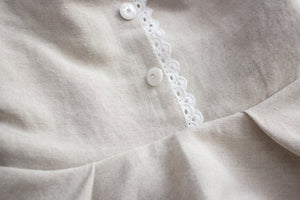 Oatmeal and Eyelet Linen Dress ©