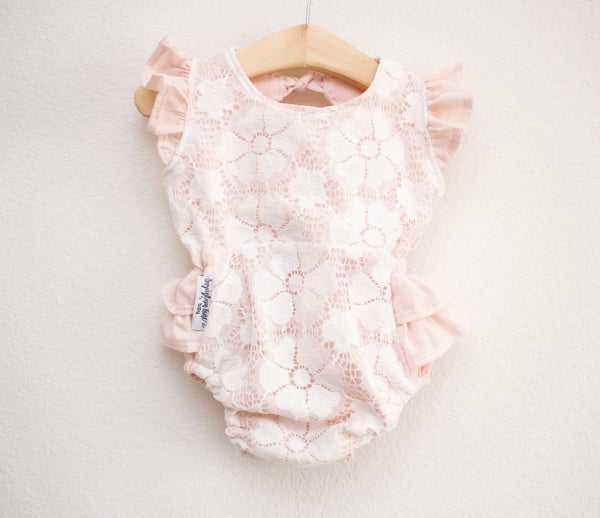 Blush Lace Romper ©
