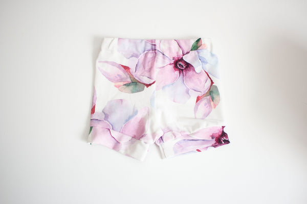 Lavender Flower Shorts
