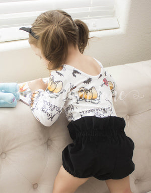 Black Velvet Bloomers for Babies and Toddlers