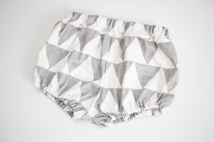 12-18 Month Baby Bloomer Grey Triangle