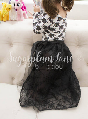 Black Floor Length Tulle Skirt for Babies and Toddlers