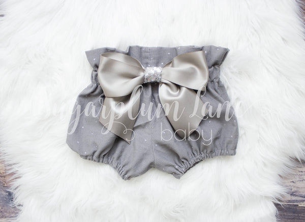 Gray Glitter Dot High Waist Bloomers