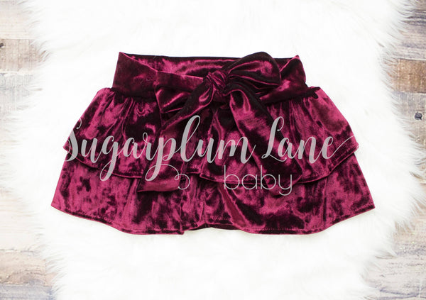 Crushed Velvet Holiday Skirt ©
