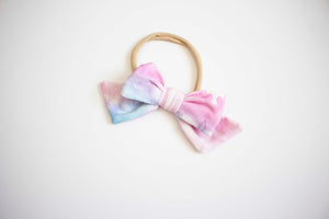 Purple and Pink Tie Dye Bow
