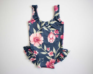 Navy Flower Swimsuit