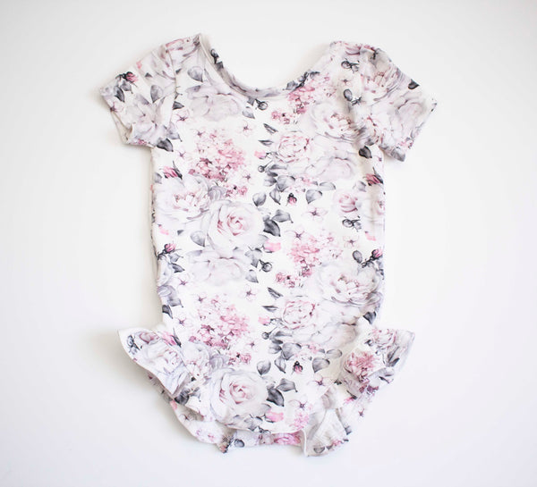 Grey and Pink Rose Bouquet Lounge Onesie
