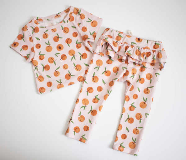 Just Peachy Lounge Top OR Bottom OR Set
