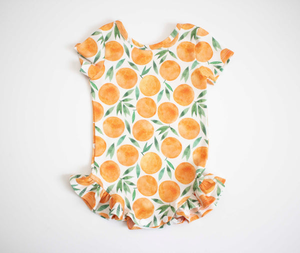 Oranges Ruffled Onesie