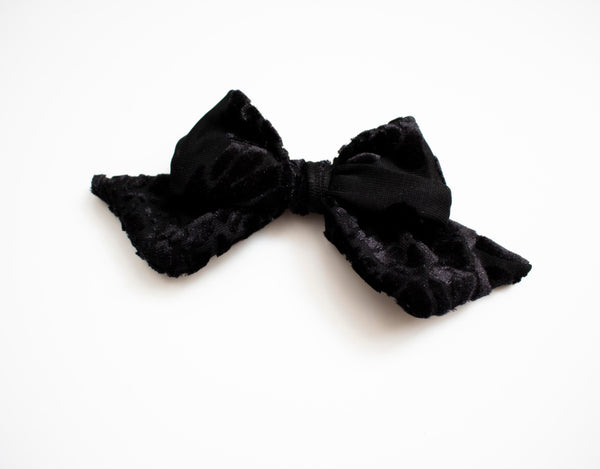 Black Velvet Rose Bow