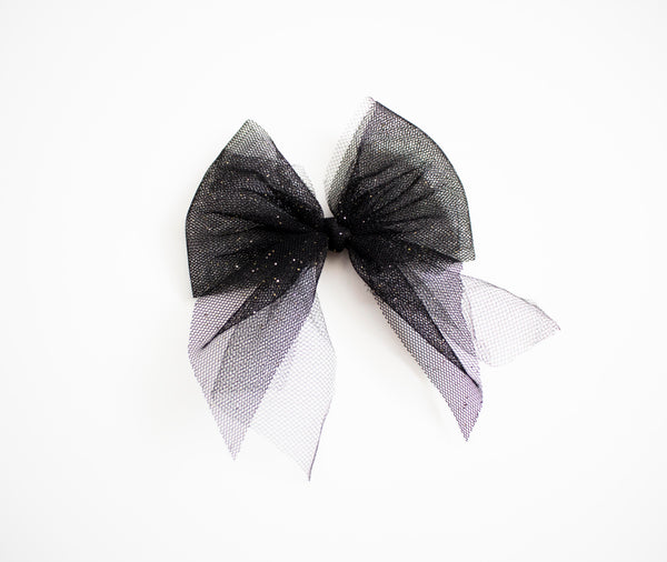 Black Tulle Bow