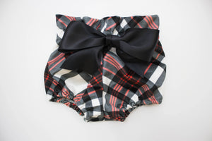 Velvet Plaid Bow Bloomers