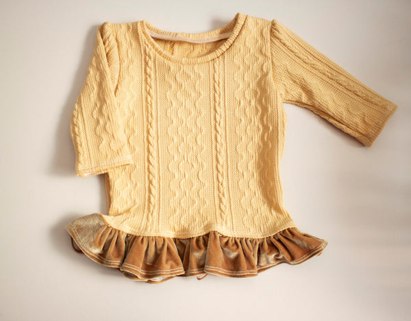 Golden Ruffled Sweater
