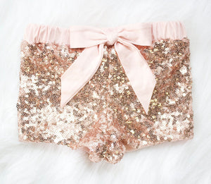 Rose Gold Sequin Shorts