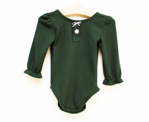 Evergreen Ribbed Knit Leotard