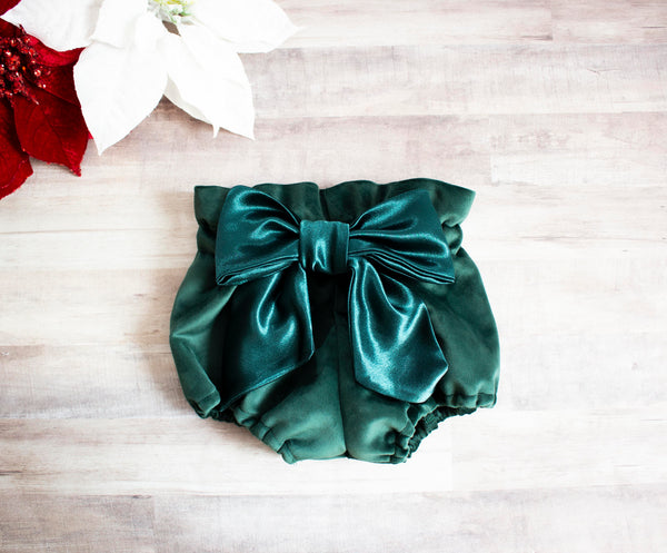 Evergreen Velvet Bloomers
