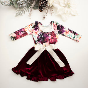 Floral Holiday Twirl Dress ©