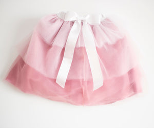 Blush Tiered Floor Length Tulle Skirt for Babies and Toddlers