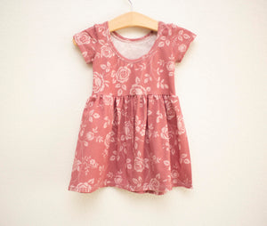 Terracotta Rose Twirl Dress